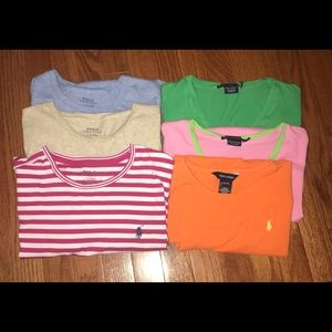 Set of polo shirts